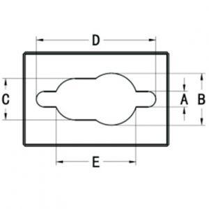 Размерная схема матрицы головного мозга