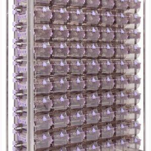 Стеллаж на 70 клеток NexGen, клетки с замками