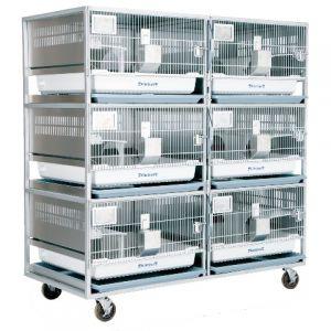Стеллаж на 6 клеток для кроликов RBEURO